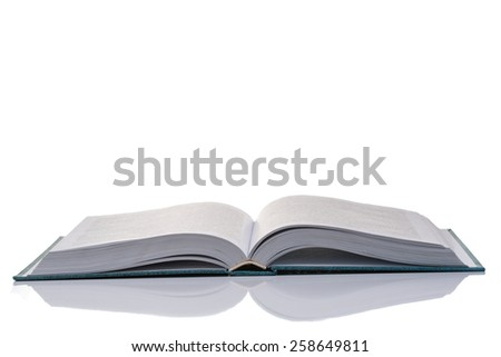 an image of open book on white background