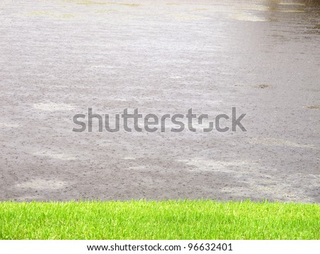 an image of raining in Florida,USA - stock photo