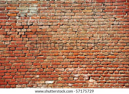 an image of red brick wall - stock photo