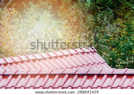 An image of  red roof  - stock photo