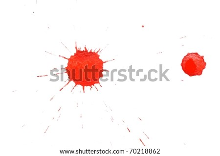 An image of red spot on white background - stock photo
