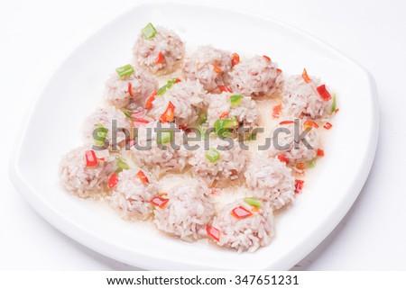 An Image of Rice Ball - stock photo