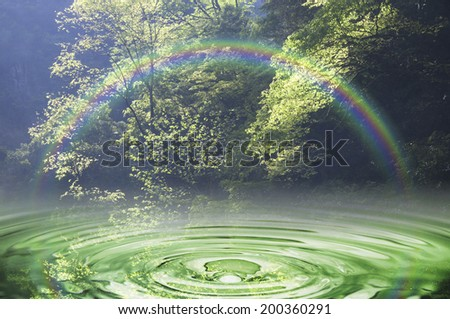 An Image of Ripples And Green