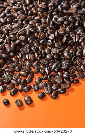 An image of roasted coffee beans - stock photo
