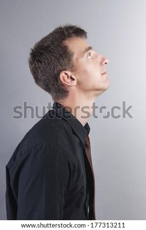 an image of sad businessman - stock photo