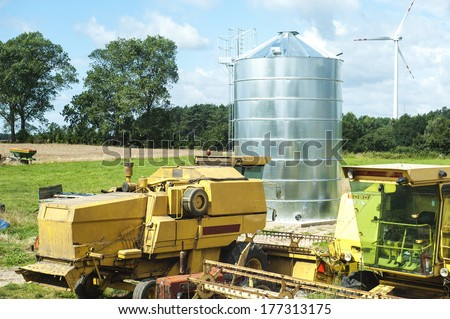an image of silo for grain