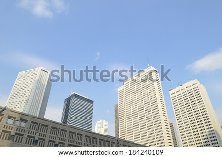 An image of Skyscrapers in Japan - stock photo