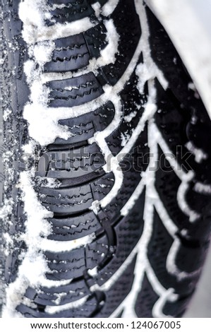 An image of snow tire - stock photo