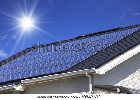 An Image of Solar Panels - stock photo