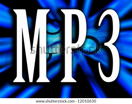 An image of some cds or DVDs with the word MP3 in the foreground, this word represents how CD's and DVD's are being converted to the MP3 format.