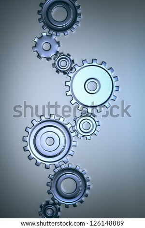 An image of some nice steel gears - stock photo