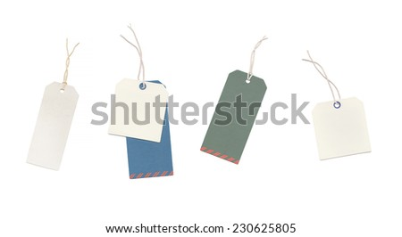 An image of some real price tags - stock photo