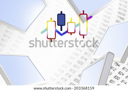 An Image of Stock Price - stock photo