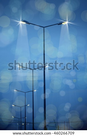 an image of street lights - stock photo