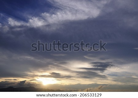 An Image of Sunset Clouds