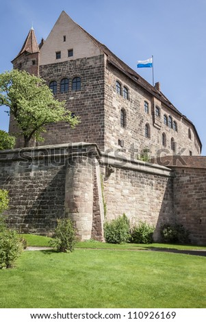 An image of the Castle of Nuremberg Bavaria Germany - stock photo