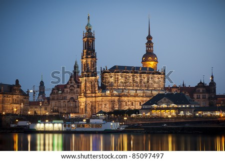 An image of the famous Hofkirche in Dresden Germany - stock photo