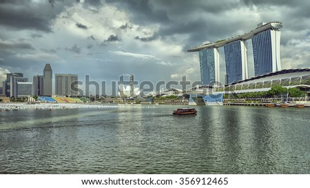 An image of the famous Marina Bay in Singapore Sands