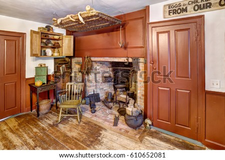 Primitive colonial stock images royalty free images for Reproduction homes