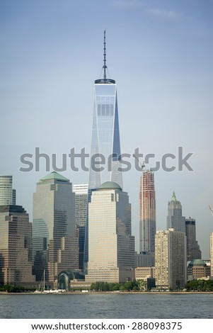 An image of the high rise buildings of new york - stock photo