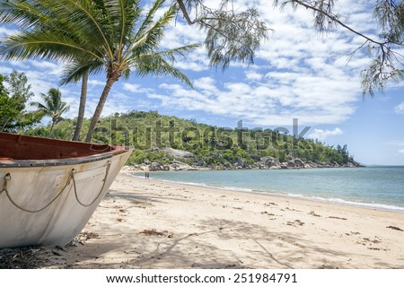 An image of the Magnetic Island in Australia - stock photo