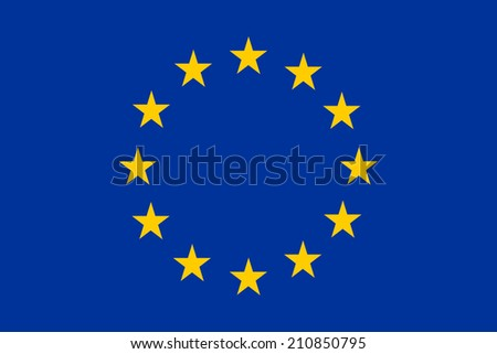 An image of the national flag of Europe - stock photo