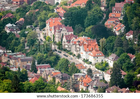 An image of the nice city Stuttgart in Germany - stock photo