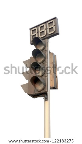 An image of traffic lights while no light. - stock photo