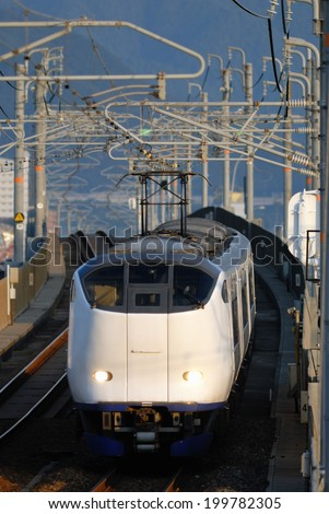An Image of Train In Japan