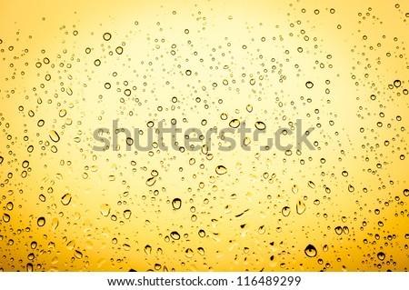 An image of waterdrops on window - stock photo