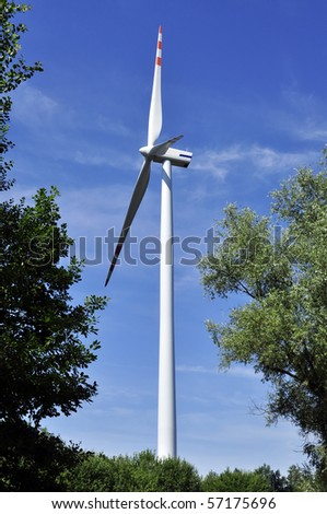 an image of wind turbine farm - stock photo