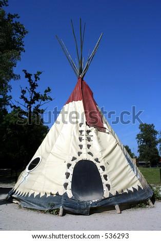An indian teepee - stock photo