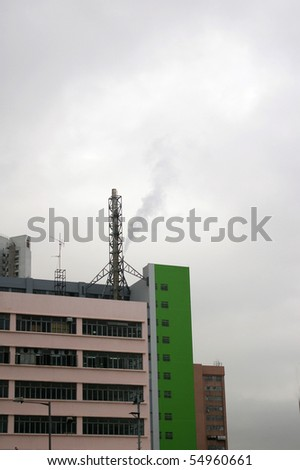 An industrial building in Hong Kong - stock photo