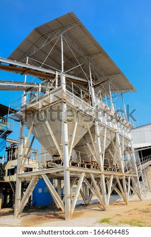 An industrial cement processing facility - stock photo