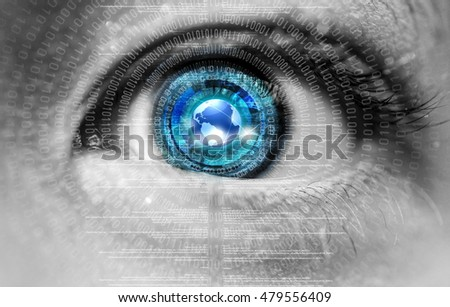 An innocent eye exposed to digital information on the internet
