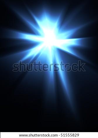 An intense burst of bright light. - stock photo