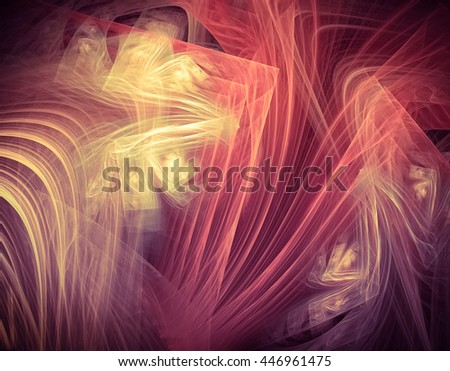 An interesting unusual geometric abstract background in pink tones with a joyous and festive mood - stock photo