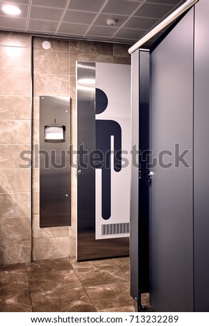 An interior shot of a men\u0027s room wc. A big man sign on the toilette & Guy Next Door Stock Images Royalty-Free Images \u0026 Vectors ... Pezcame.Com