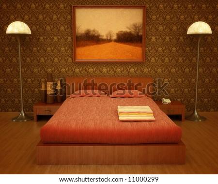 Interior visualization stylish art deco influenced stock for Art deco interior design influences
