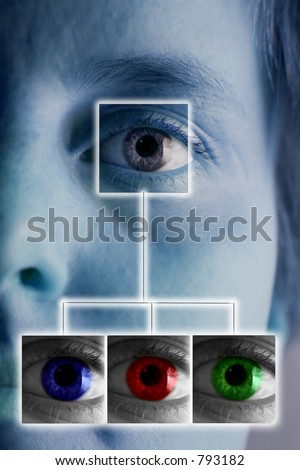 An iris scan concept image - stock photo
