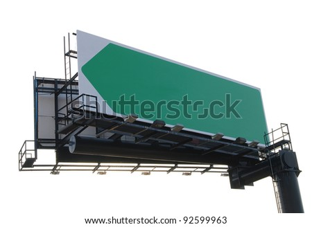 An isolated advertisement billboard