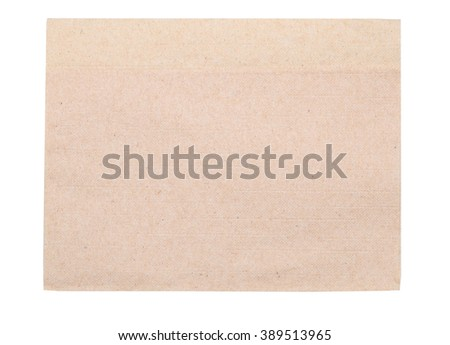 An isolated brown napkin paper