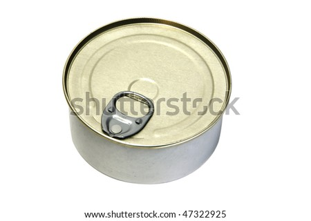 an isolated can on a white background