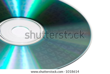 An Isolated Data CD - stock photo