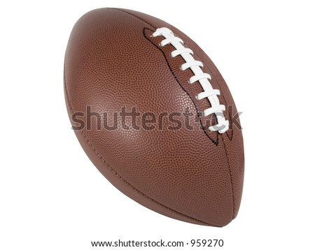 An Isolated football With laces showing - stock photo