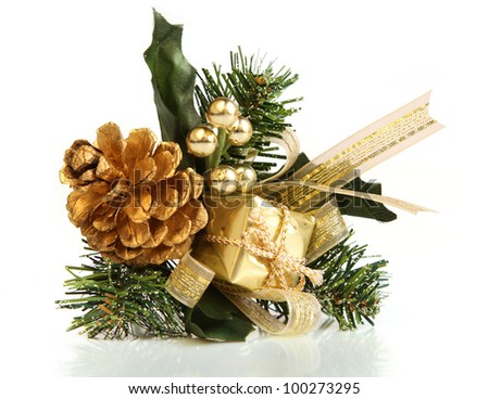 An isolated shot from a Christmas decorative object. - stock photo
