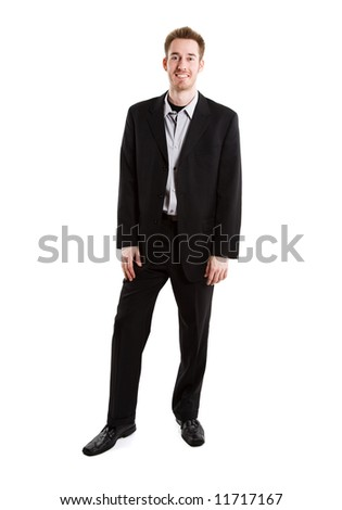 An isolated shot of a smiling caucasian businessman