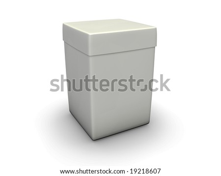 An isolated tall paper crate on white background - stock photo