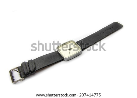 An isolated Wristwatch on white background - stock photo