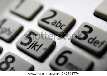 An macro Image of a keybord with numbers